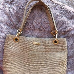 "Eric Javits ""Squishee"" weaved bag"